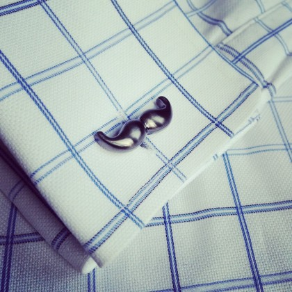 Gunmetal Moustache Cufflinks