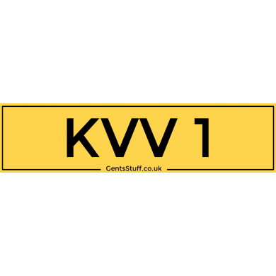 KVV1 - Private Number Plate